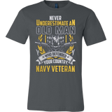 Never Underestimate an Old Man who defended your country - Navy Veteran T-shirt - Vietees Shop Online