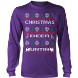 Chrismas deer hunting ugly sweater - Vietees Shop Online - 13