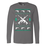 Assault Rifle Ugly Christmas Sweatshirt - Vietees Shop Online - 5