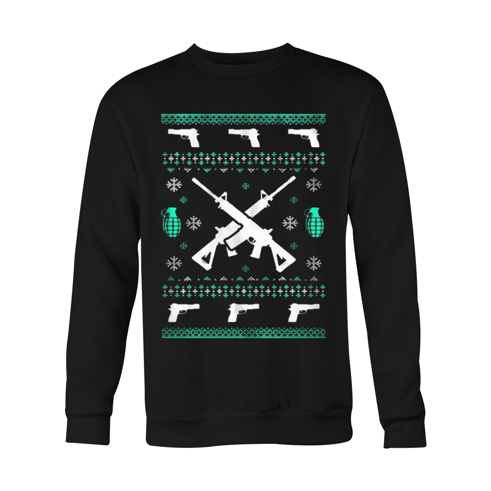 Assault Rifle Ugly Christmas Sweatshirt - Vietees Shop Online - 2