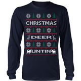 Chrismas deer hunting ugly sweater - Vietees Shop Online - 7