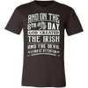 Image of 8TH DAY GOD CREATED THE IRISH T-SHIRT - Vietees Shop Online