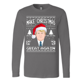 Make Christmas Great Again Ugly Sweater Donald Trump 2016 - Vietees Shop Online - 5