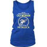 Never underestimate an old woman Who listens to Metallica T-shirt - Vietees Shop Online
