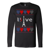 Peace and pray for paris ugly christmas sweater xmas - Vietees Shop Online - 1