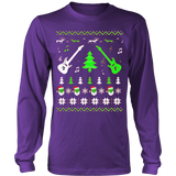 Ugly Christmas Sweatshirt Guitar Style - Vietees Shop Online