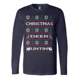 Chrismas deer hunting ugly sweater - Vietees Shop Online - 2