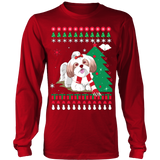 Christmas Ugly Sweater - SHIH TZU DOG - Vietees Shop Online - 14