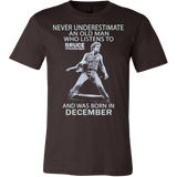 Never underestimate an old man who listens to Bruce Springsteen and was born in December T-shirt - Vietees Shop Online