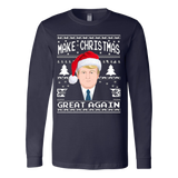 Make Christmas Great Again Ugly Sweater Donald Trump 2016 - Vietees Shop Online