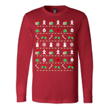 Red christmas pattern sweater ugly - Vietees Shop Online