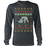 Jiu Jitsu - Ugly Christmas Sweater Hoodie - Vietees Shop Online