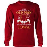 Never Underestimate An Old Man Who Graduated From Iowa T-shirt - Vietees Shop Online
