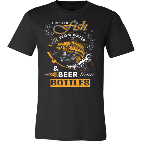 I Rescue Fish From Water Beer From Bottles T-Shirt - Vietees Shop Online