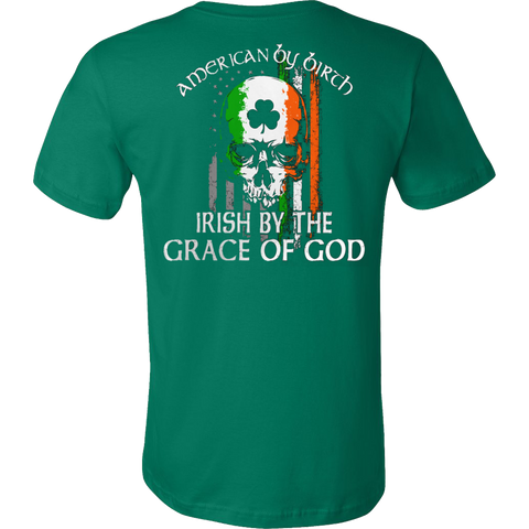 AMERICAN IRISH BY GRACE OF GOD T-SHIRT