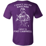 I didn't go to Harvard I went to Fort Campbell T shirt - Vietees Shop Online