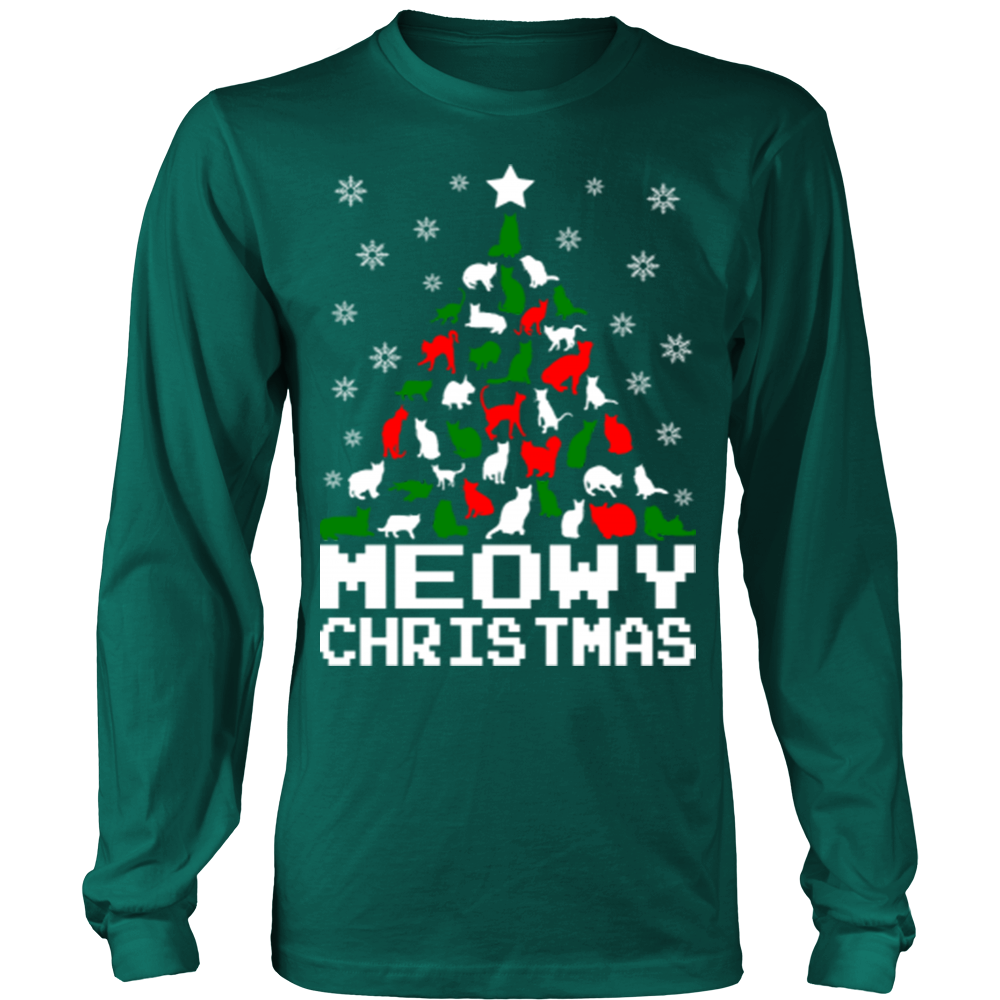 e495eb402 Meowy christmas cat tree ugly sweater – Vietees Shop Online