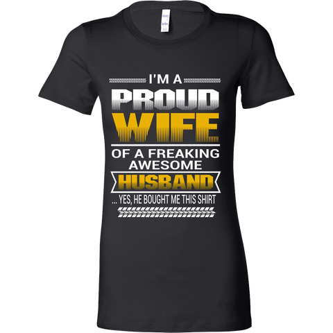 Proud Wife Of A Freaking Awesome Husband - Vietees Shop Online