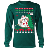 Christmas Ugly Sweater - SHIH TZU DOG - Vietees Shop Online - 11