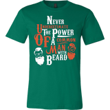 Never underestimate the power of a common Man with Beard T-shirt - Vietees Shop Online