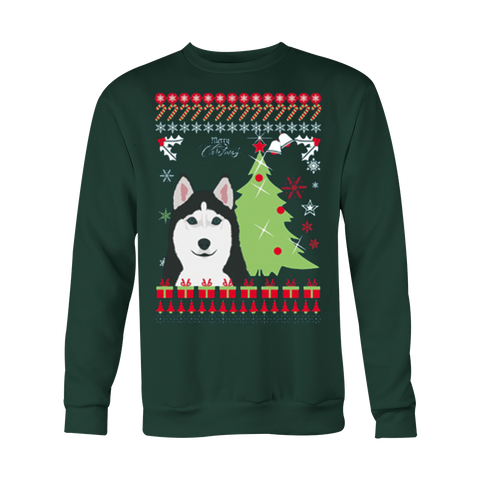 Christmas Ugly Sweatshirt HUSKY UGLY - Vietees Shop Online