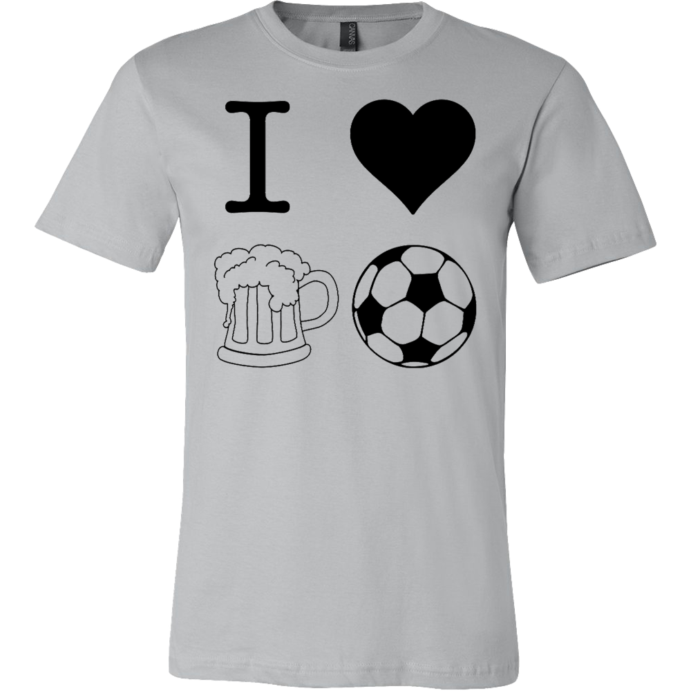 I Heart Beer and Football T-shirt - Vietees Shop Online