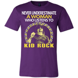 Never Underestimate a Woman who listens to Kid Rock T-shirt - Vietees Shop Online