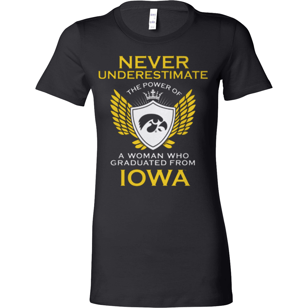 Never Underestimate - A woman graduated from IOWA - Vietees Shop Online