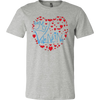 Image of Be My Valentine - Love Love Love T-shirt - Vietees Shop Online