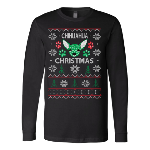 Chihuahua ugly christmas sweater xmas - Vietees Shop Online