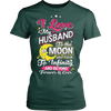 Image of I love my husband to the moon and back t-shirt - Vietees Shop Online