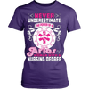 Image of Never Underestimate Aries Woman With A Nursing Degree - Vietees Shop Online