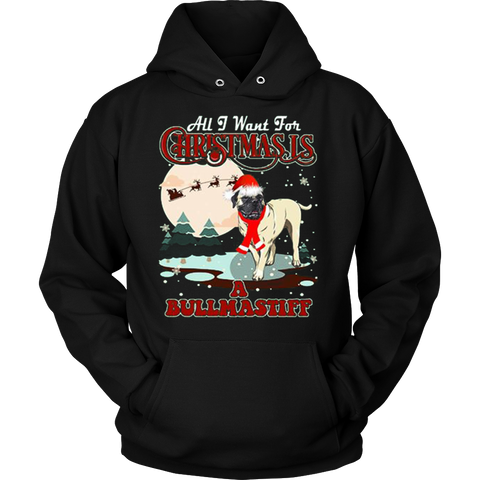 Bullmastiff Ugly Christmas Sweater Hoodie