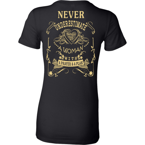 Never Underestimate - A Prayer & Plan Back T-shirt - Vietees Shop Online