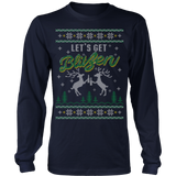 Ugly christmas sweater let s get blitzen - Vietees Shop Online