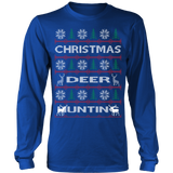 Chrismas deer hunting ugly sweater - Vietees Shop Online - 12