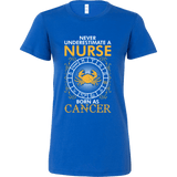 Never Underestimate A Nurse Born As Cancer - Vietees Shop Online
