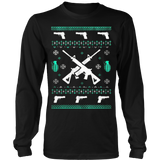 Assault Rifle Ugly Christmas Sweatshirt - Vietees Shop Online - 8