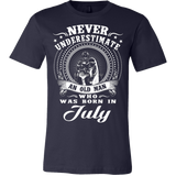 Never underestimate an old man who was born in july T-shirt - Vietees Shop Online