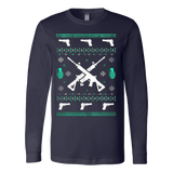 Assault Rifle Ugly Christmas Sweatshirt - Vietees Shop Online - 4