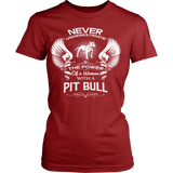 Never Underestimate the power of a woman with a Pit Bull - Vietees Shop Online