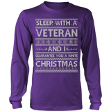 Sleep With A VETERAN And I Guarantee You A White Christmas Jobs Ugly Sweater - Vietees Shop Online