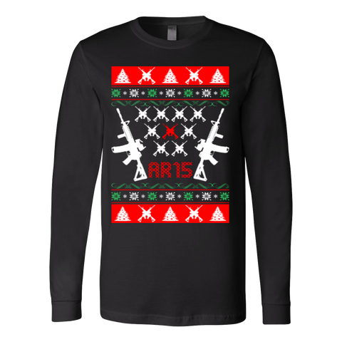 Ar 15 ar15 ugly christmas sweater - Vietees Shop Online - 1