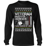 VETERAN DAUGHTER UGLY CHRISTMAS SWEATSHIRT - Vietees Shop Online - 7