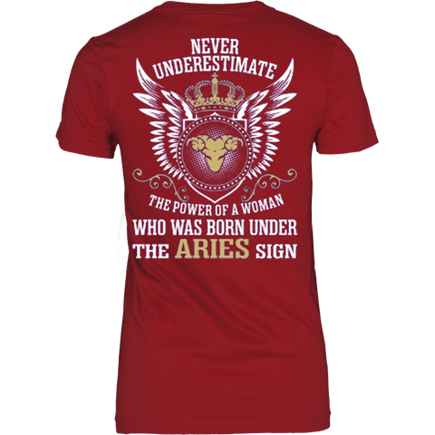 Never underestimate power of Aries Woman - Vietees Shop Online