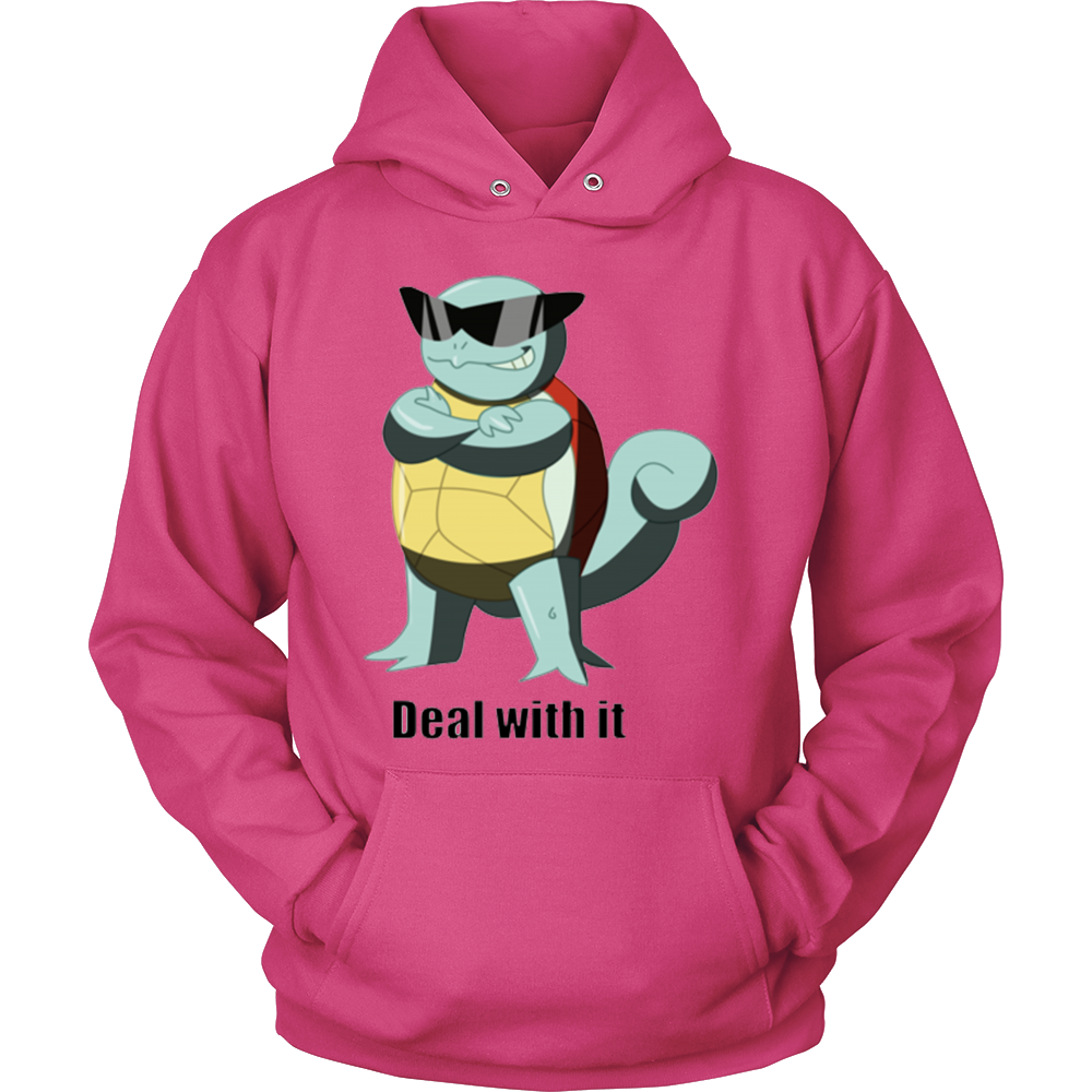 Pokemon Squirtle Deal With It Hoodie - Vietees Shop Online