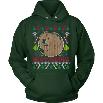 Chow Chow Dog Breed Ugly Christmas Sweater Hoodie - Vietees Shop Online