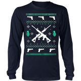 Assault Rifle Ugly Christmas Sweatshirt - Vietees Shop Online - 9