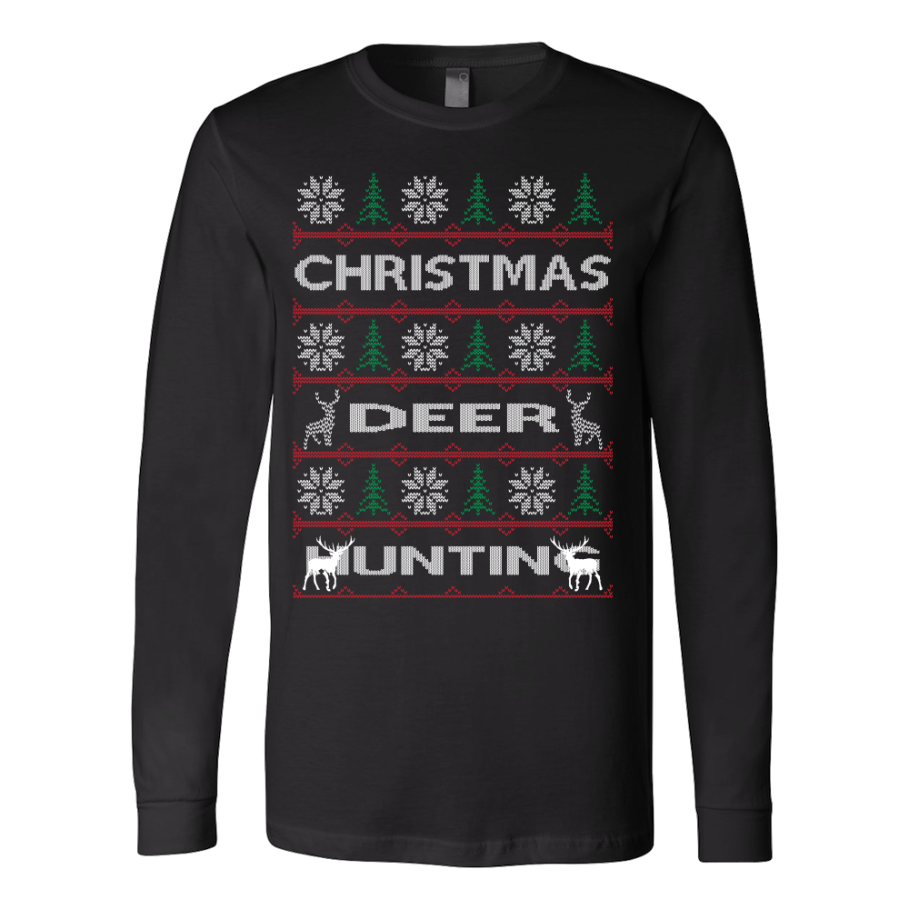 Chrismas deer hunting ugly sweater - Vietees Shop Online - 1