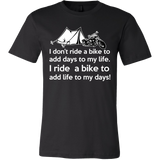 I ride a bike to add life to my days T-shirt - Vietees Shop Online
